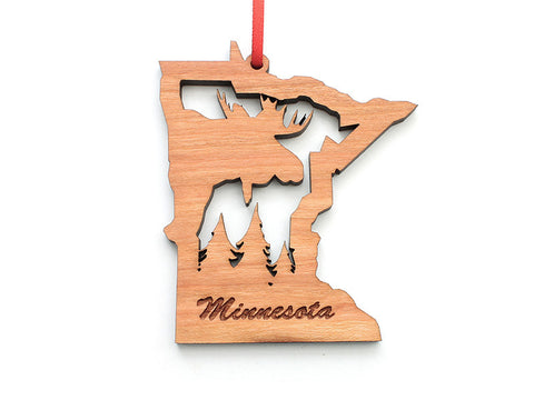 Minnesota Moose Insert State Ornament - Nestled Pines