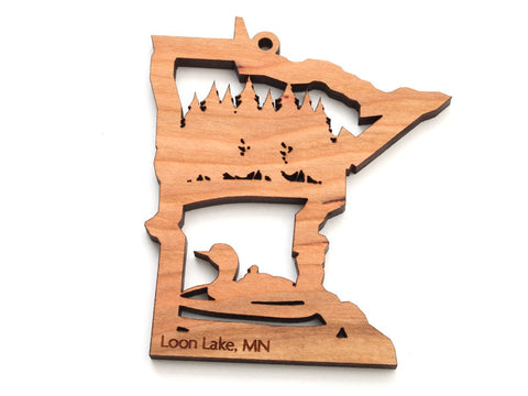 Minnesota State Loon Ornament - Nestled Pines