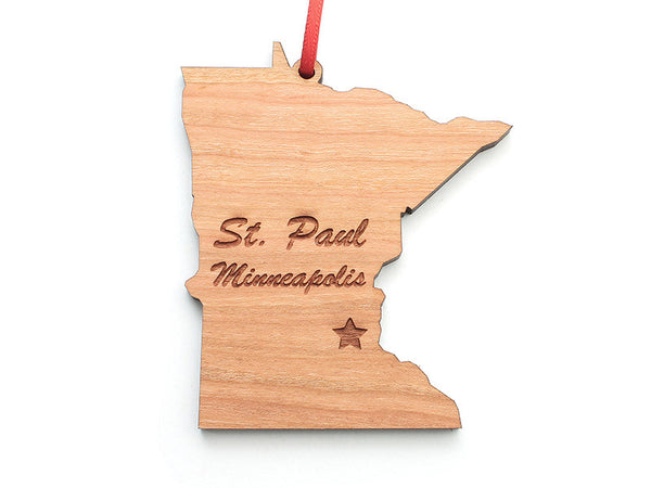 Minnesota State Ornament ND - Nestled Pines
