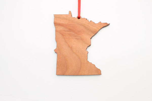 Big Ole Minnesota State Ornament - Nestled Pines