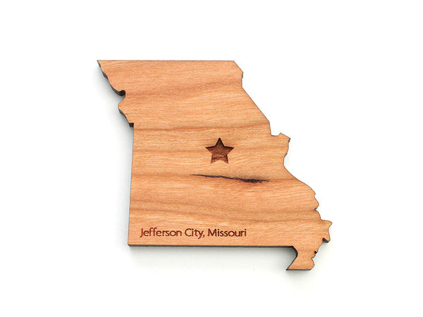 Jefferson City Missouri State Capital Magnet - Nestled Pines