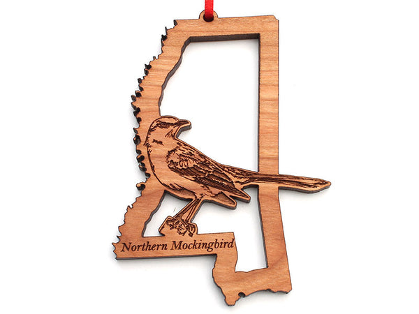 Mississippi State Bird Ornament - Northern Mockingbird