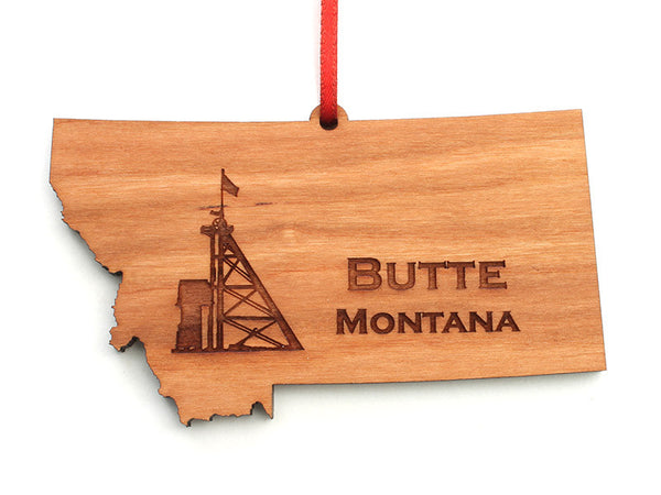 Copper Butte Montana Custom State Ornament - Nestled Pines