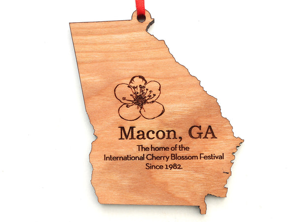 Macon Georgia Cherry Blossom State Ornament