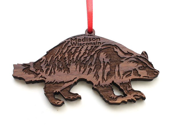 Madison Wisconsin Badger Ornament