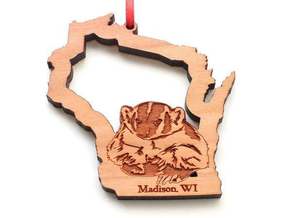 Madison Wisconsin Badger State Insert Ornament