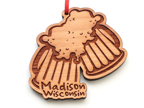 Madison Wisconsin Cheers Craft Brew Beer Mugs Ornament