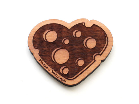Madison Wisconsin Cheese Heart Magnet