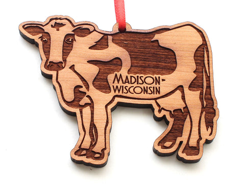 Madison Wisconsin Dairy Cow Ornament
