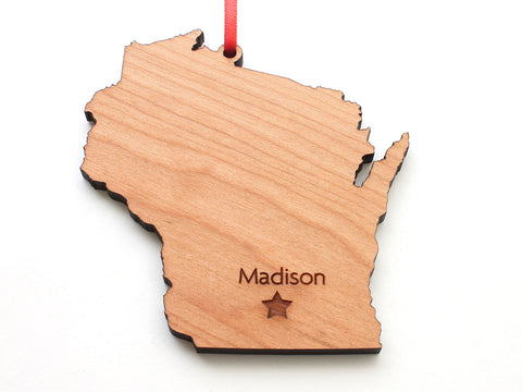 Madison Wisconsin State Star Ornament