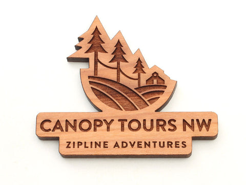 Canopy Tours Logo Magnet
