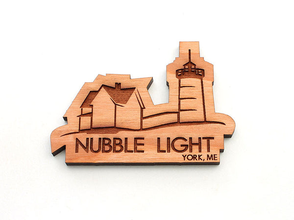 Nubble Lighthouse Logo Magnet