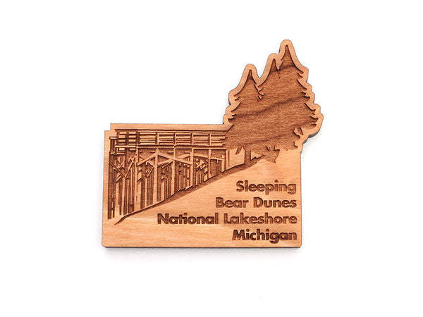 Sleeping Bear Dunes Magnet - Nestled Pines