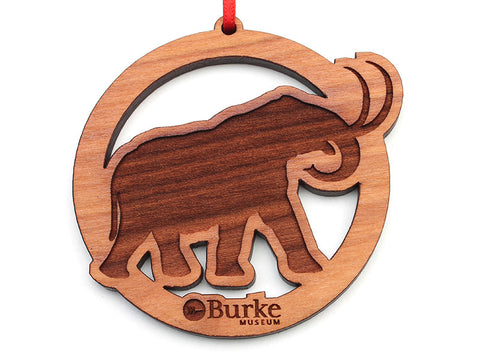 Burke Museum Mammoth Circle Custom Ornament - Nestled Pines