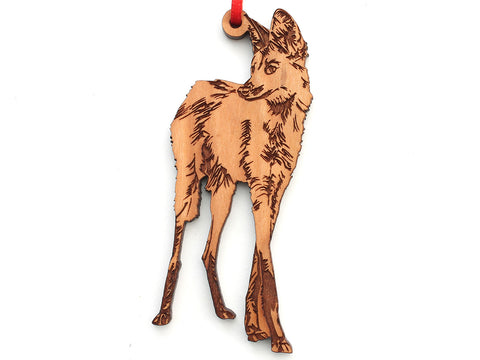 Maned Wolf Ornament