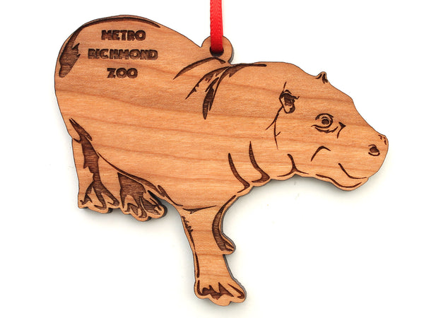 Marty the Hippo Cut Out Ornament