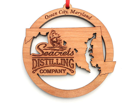 Seacrets Distilling Company Maryland State Ornament