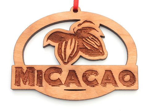 MiCacao Logo Oval Ornament