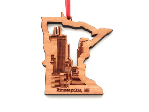Minneapolis Skyline in Minnesota State Ornament