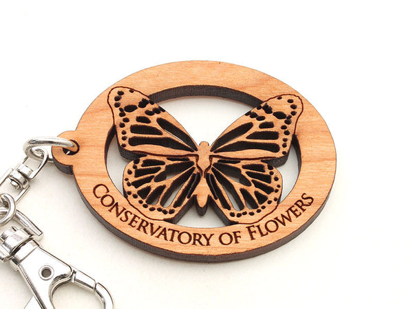 Conservatory of Flowers Monarch Butterfly Alt Key Chain