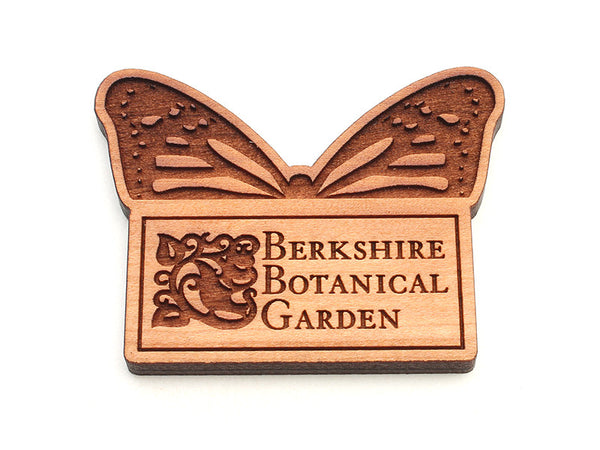 Berkshire Botanical Garden Monarch Butterfly with Logo Magnet