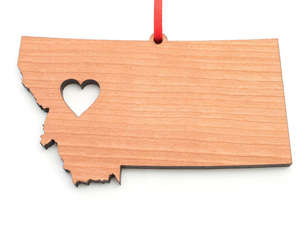 Missoula Montana Heart Cutout State Custom Ornament