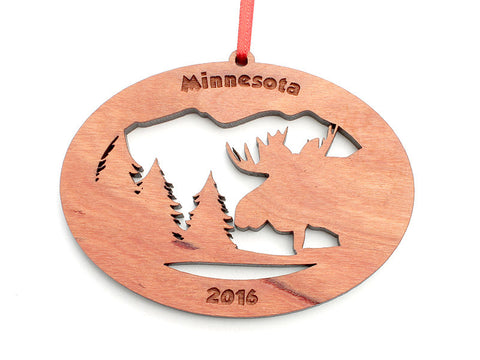 Northwoods Moose Ornament Alt - Nestled Pines