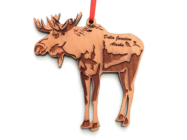 Smiling Moose - Moose Ornament ND - Nestled Pines
