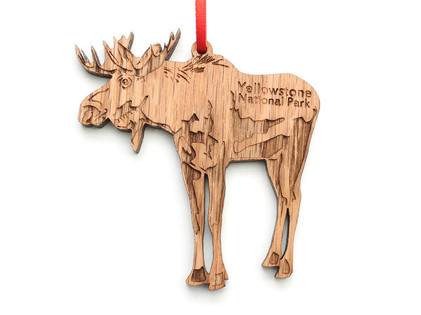 Moose Ornament ND - Nestled Pines