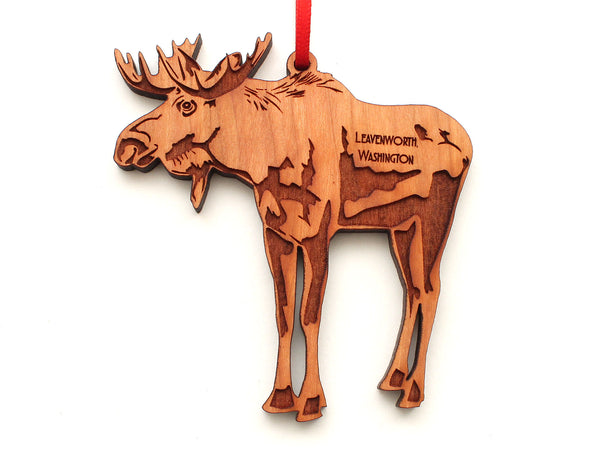 Leavenworth Washington Moose Ornament