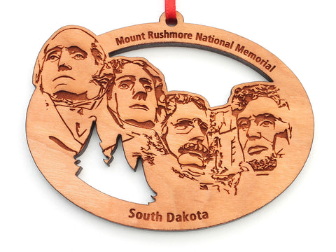 Mount Rushmore Oval Ornament