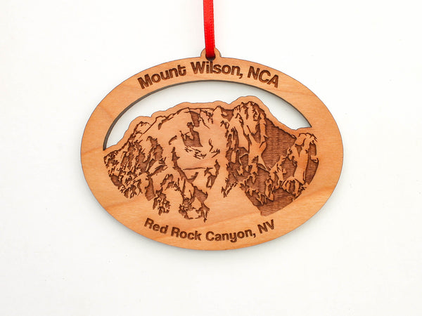 Red Rock Canyon Mount Wilson Oval Custom Ornament