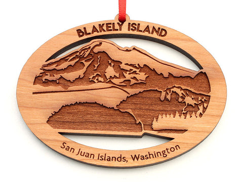 Blakely Island Mountain View Custom Ornament