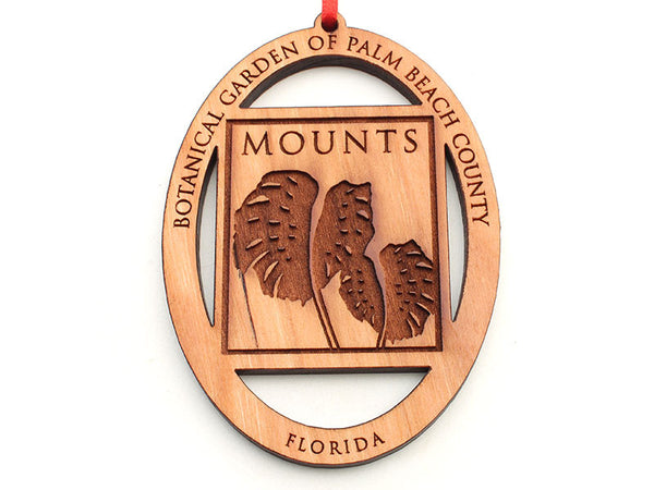 Mounts Botanical Garden Logo Oval Custom Ornament