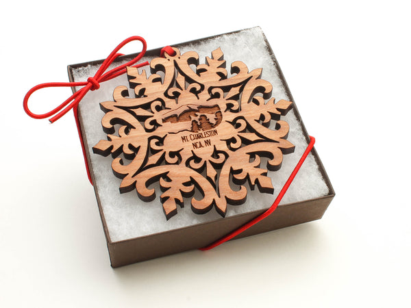 Red Rock Canyon Mount Charleston Snowflake Ornament