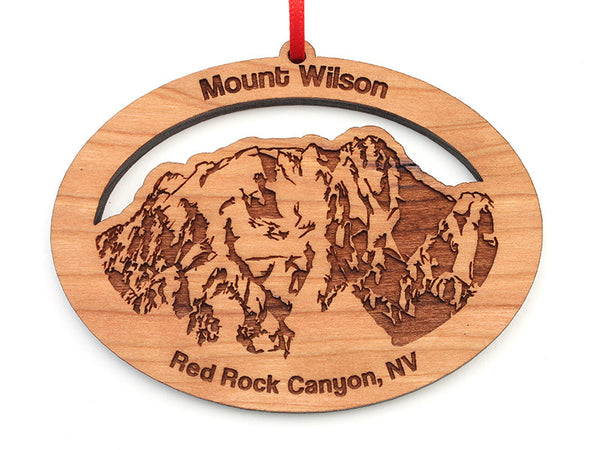 Red Rock Mount Wilson Oval Ornament - Nestled Pines