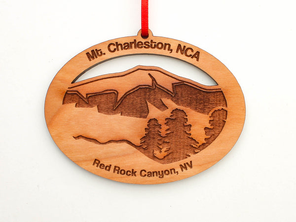 Red Rock Canyon Mount Charleston Oval Custom Ornament