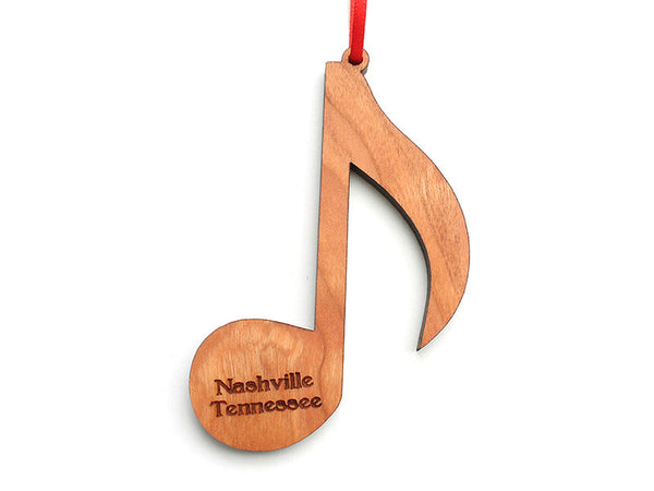 Music Note Ornament - Nestled Pines