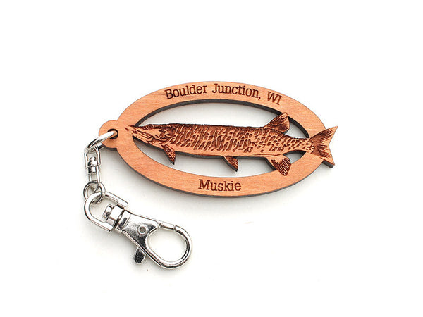 Blueberry Patch Muskie Key Chain - Nestled Pines