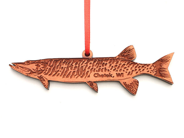Lucky Day Muskie Custom Ornament ND - Nestled Pines