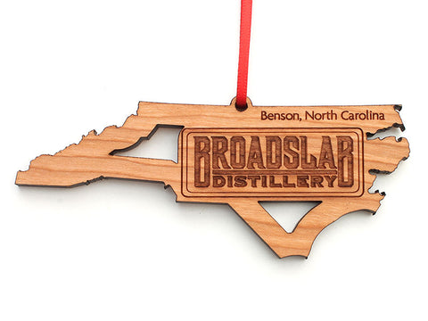 Broadslab Distillery North Carolina State Logo Insert Ornament