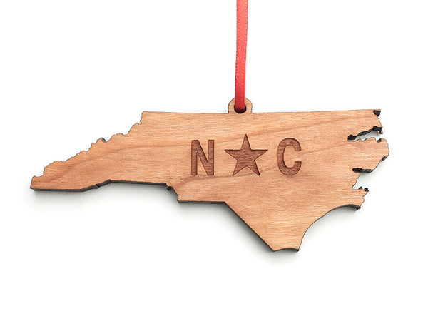 Our State Store North Carolina State Ornament - Nestled Pines