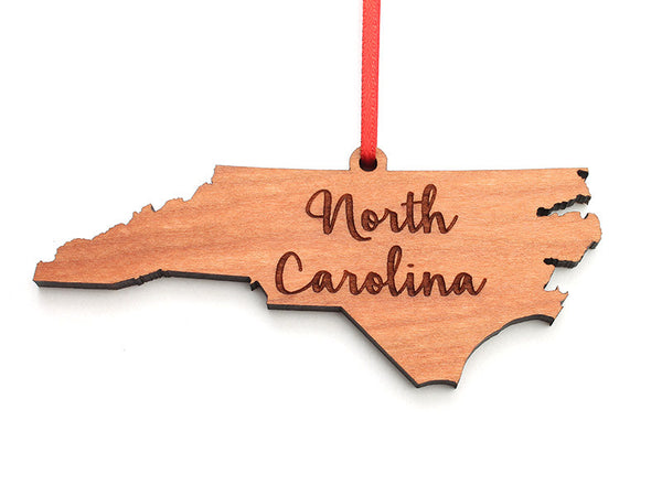 Our State Store North Carolina State Ornament Rev 2 - Nestled Pines