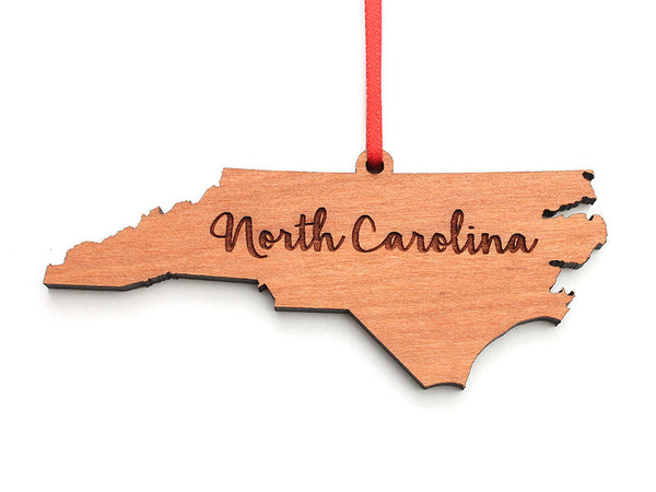 Our State Store North Carolina State Ornament Rev 2 Alt - Nestled Pines
