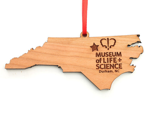 Museum of Life & Science North Carolina Custom State Ornament - Nestled Pines