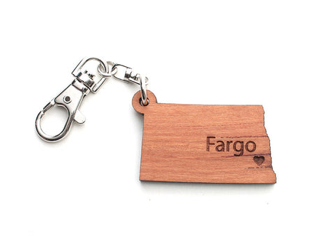 North Dakota State Key Chain - Nestled Pines