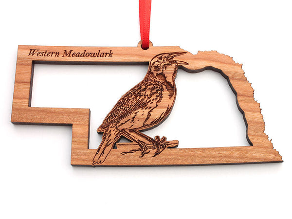 Nebraska State Bird Ornament - Western Meadowlark
