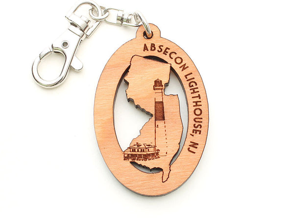Absecon Lighthouse New Jersey Key Chain