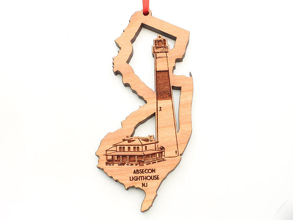 Absecon Lighthouse New Jersey State Cut Out Ornament