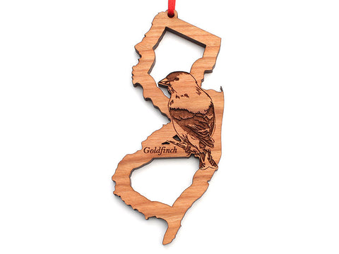 New Jersey State Bird Ornament - Goldfinch